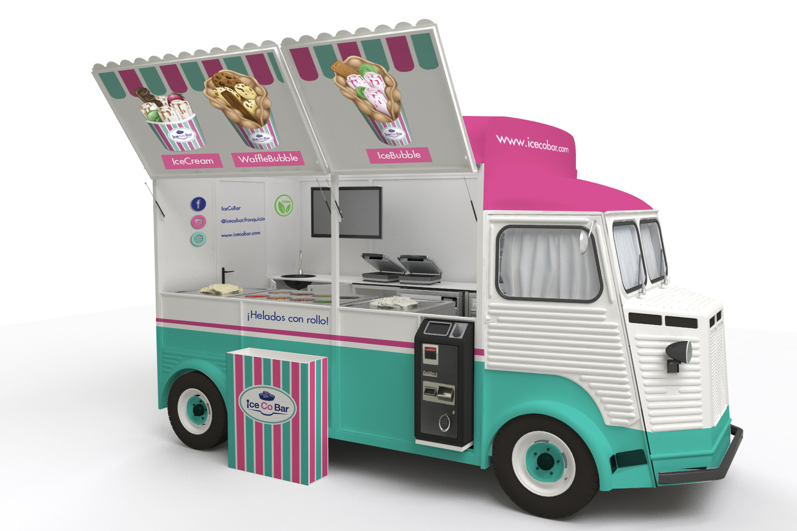 IceCoBar Fooftruck (vista interior)